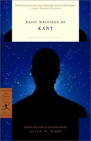 Basic Writings of Kant (Modern Library Classics) by Immanuel Kant