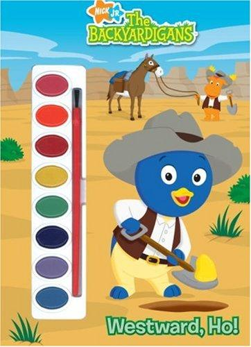 Westward, Ho! (Paint Box Book) by Golden Books