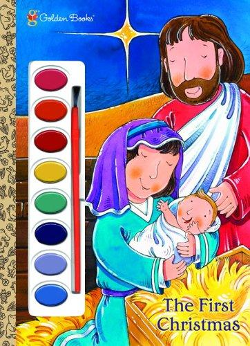 The First Christmas (Paint Box Book) by Golden Books