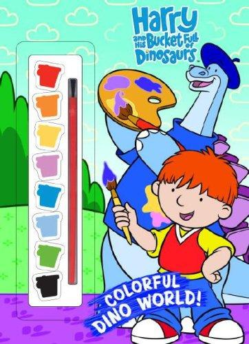 Colorful Dino World! (Paint Box Book) by Golden Books